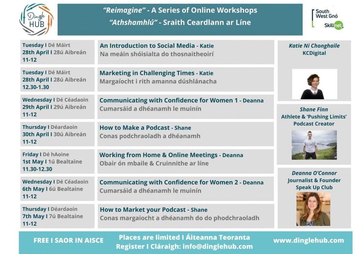 Reimagine – A Series of Online Workshops